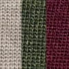 Light Brown/Dark Green/Burgundy